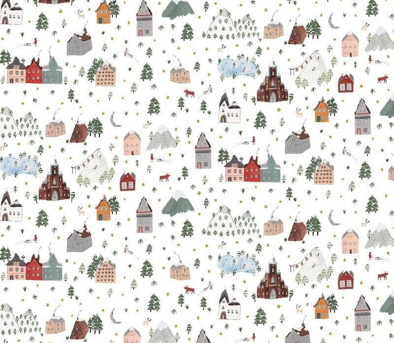 Winter Frost- Landscape - 1/2m cut 57724