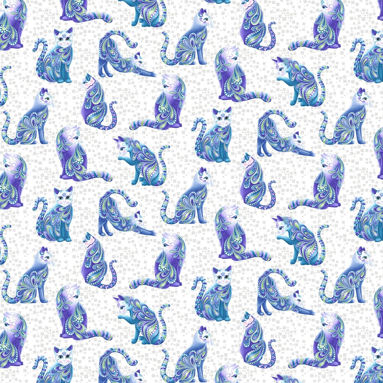 Catitude - Singing the Blues - Cats - 1/2m cut 57741