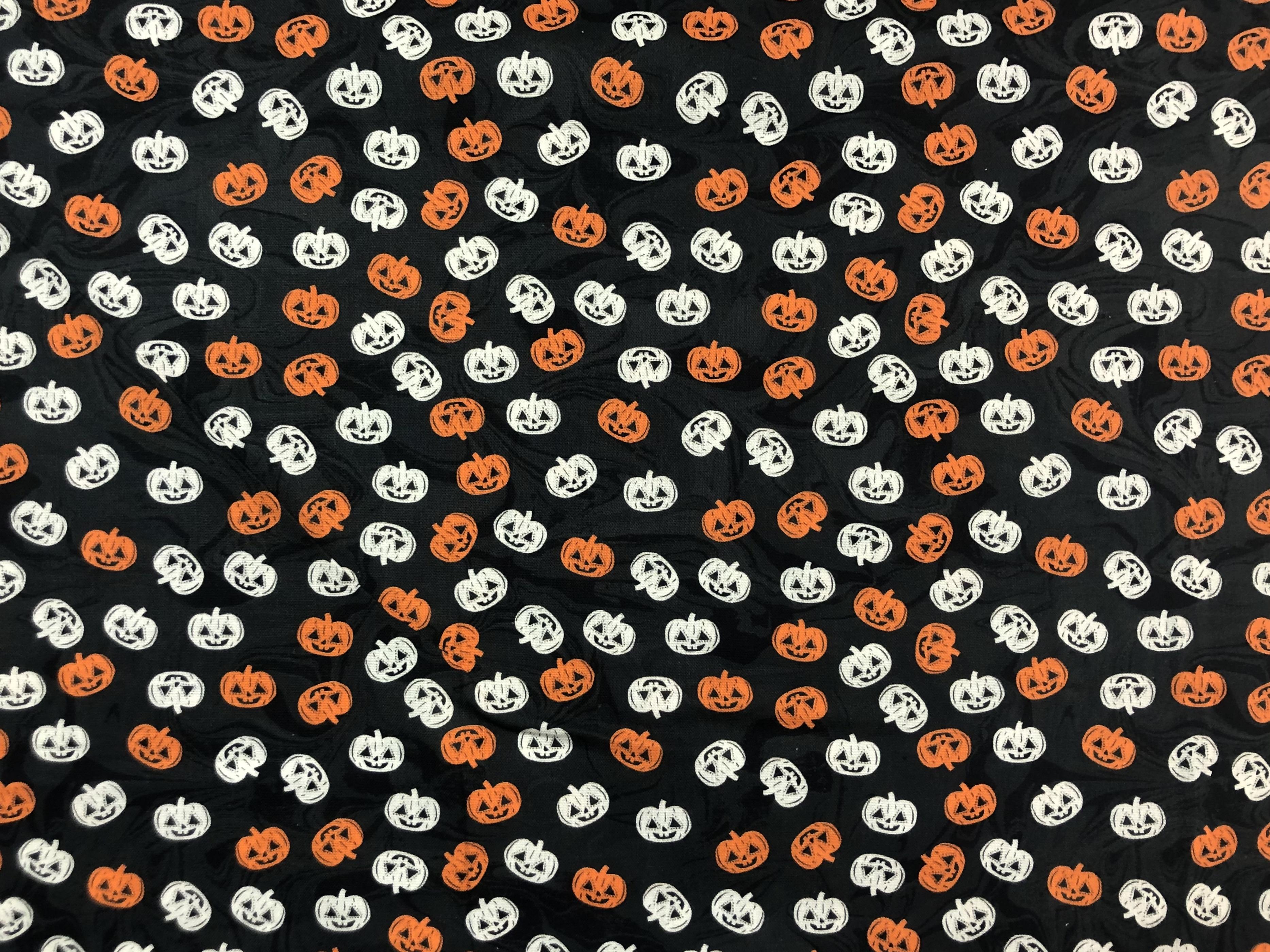 Orange and White Pumpkins - 1/2m cut 57766