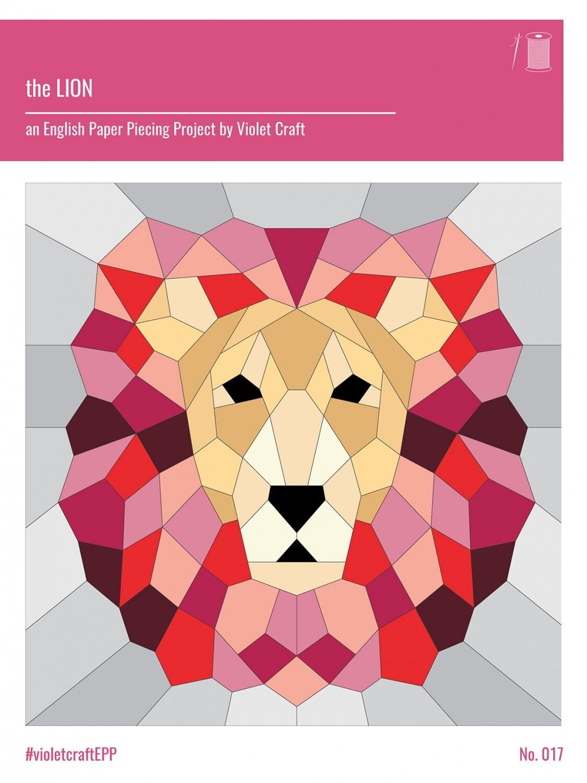 Lion - English Paper Piecing Pattern 57770