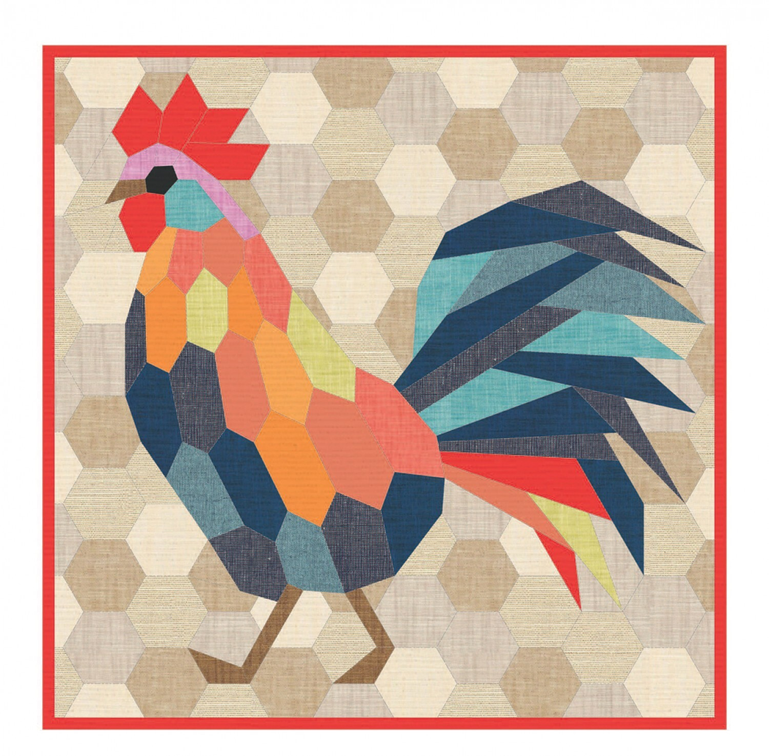 Rooster - English Paper Piecing Pattern 57771
