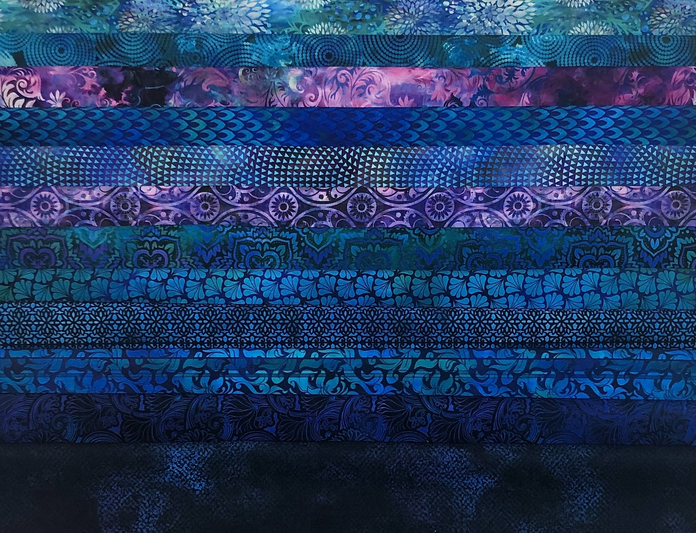 In The Beginning Fabrics Fat Quarter Bundle - Blue 57776