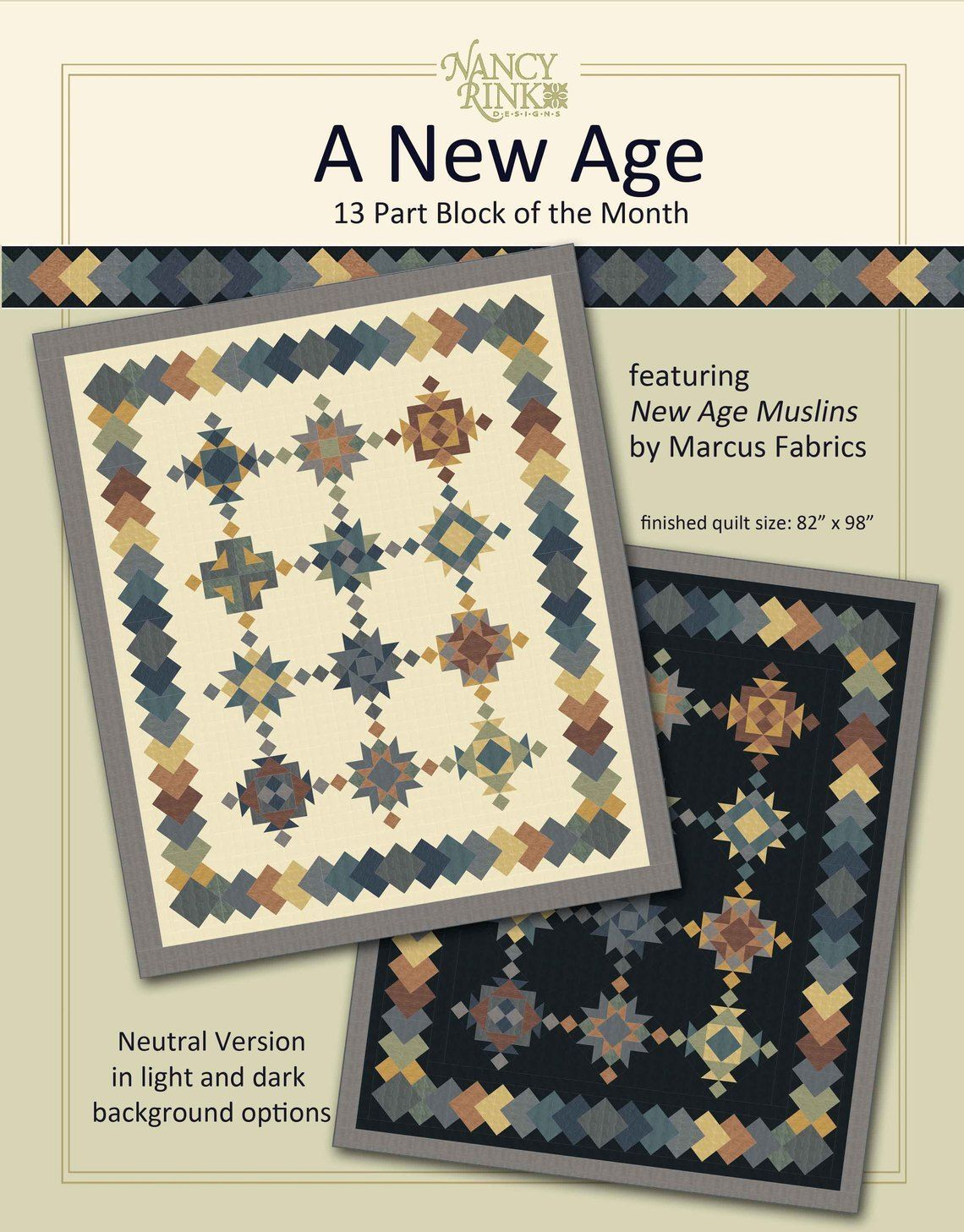 A New Age Block of the Month Kit - Neutral Version 57778