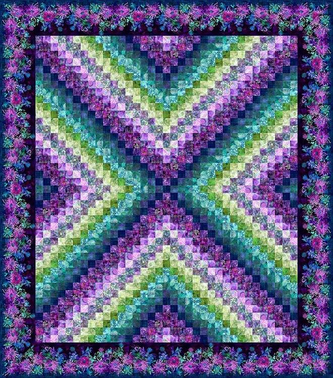"""""""X Trip"""" Quilt Kit - Purple Version 57789"""