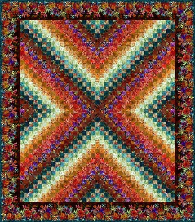"""""""X Trip"""" Quilt Kit - Coloured Version 57788"""