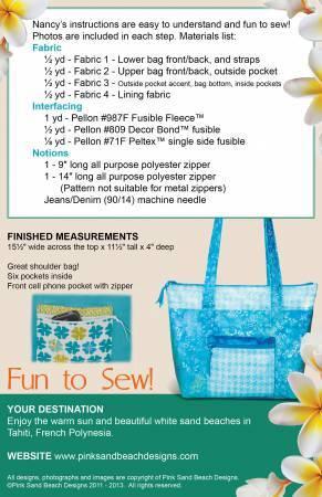 Tahiti Tote Bag Pattern