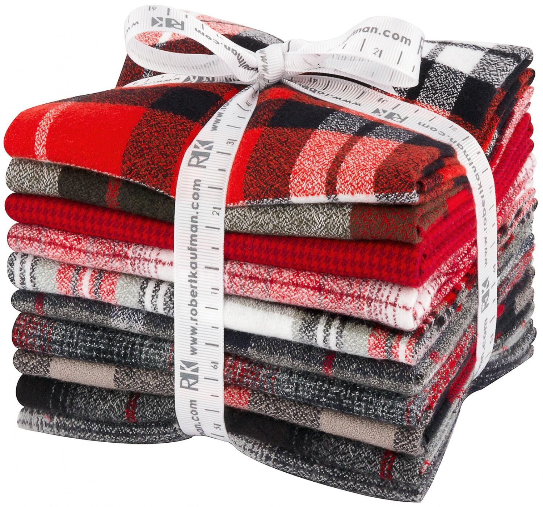 Mammoth Flannel Fat Quarter Bundle - 10 pieces 57837