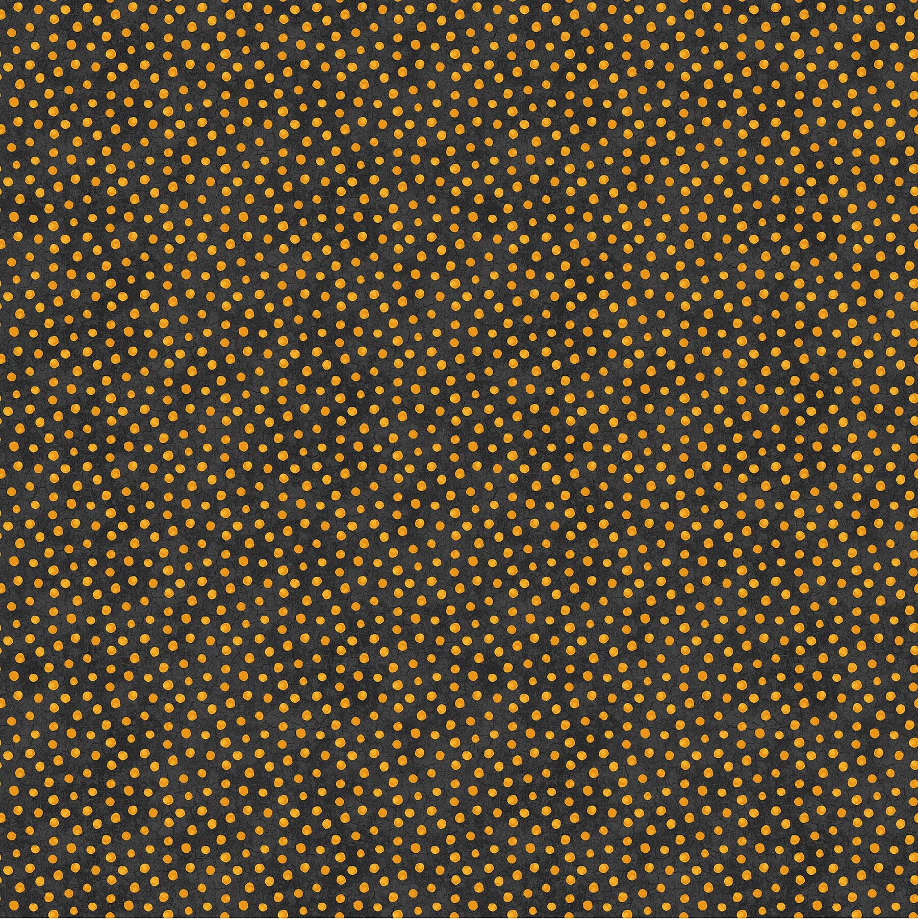 Black Cat Capers - Orange Dots on Black - 1/2m cut 57894