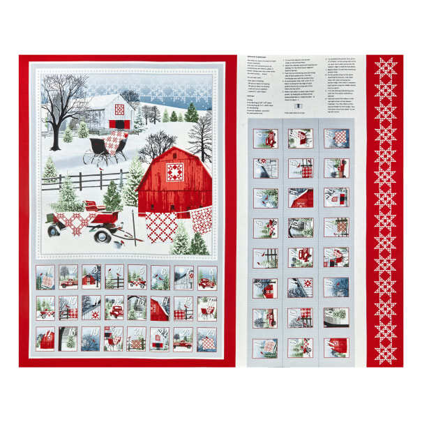 Holiday Heartland Advent Calendar Panel 57919