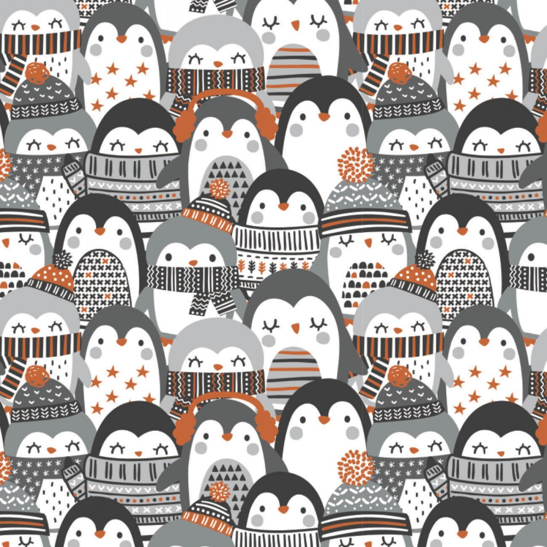Penguin Paradise - Stacked Penguins - 1/2m cut 57927