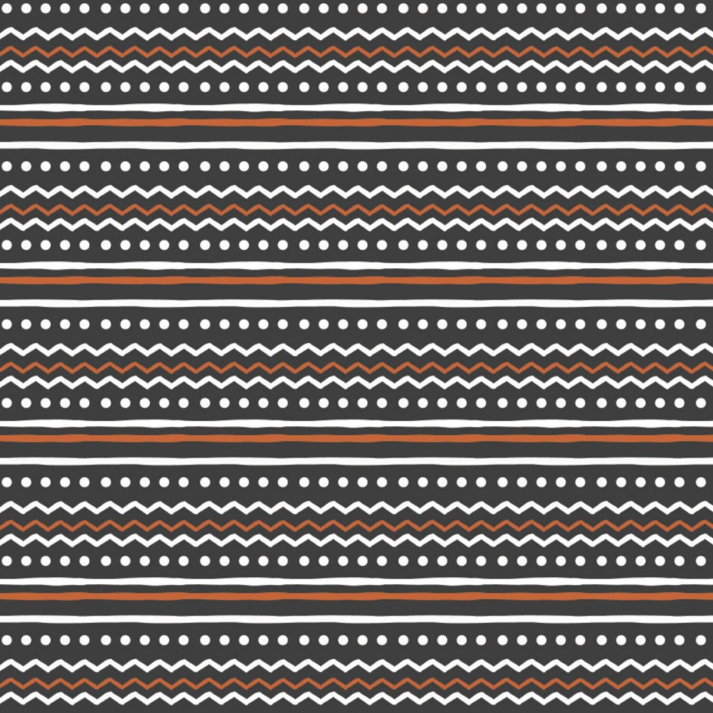 Penguin Paradise - Black Nordic Stripe - 1/2m cut 57931