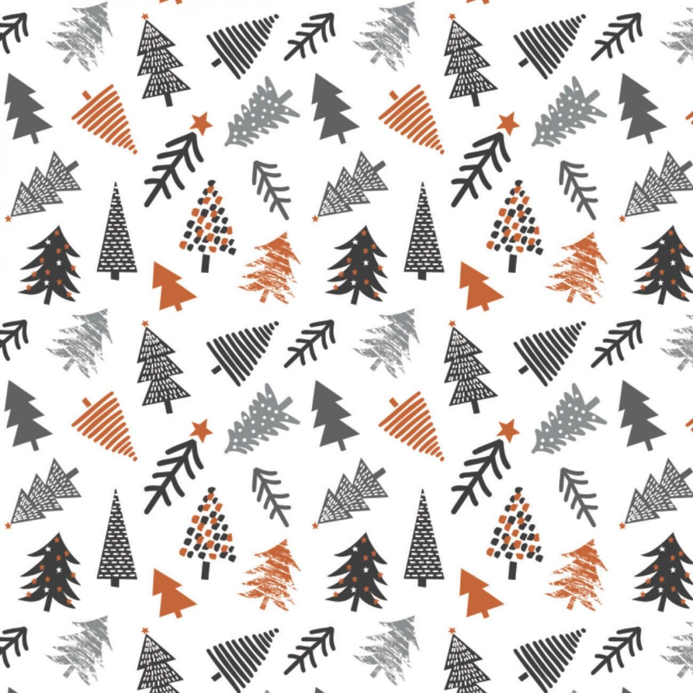 Penguin Paradise - Tossed Nordic Trees - 1/2m cut 57930