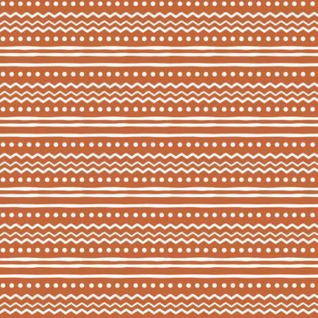 Penguin Paradise - Orange Nordic Stripe - 1/2m cut 57932