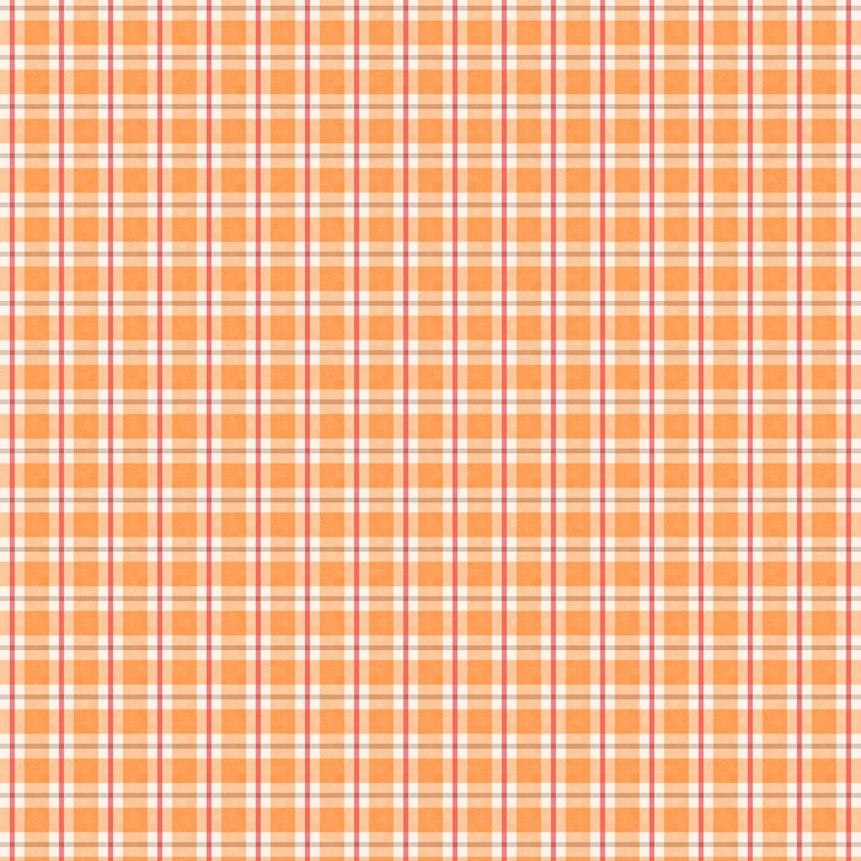 Autumn Day - Orange Plaid - 1/2m cut 57940