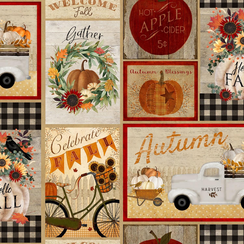 Happy Fall - Multi Patchwork - 1/2m cut 57947