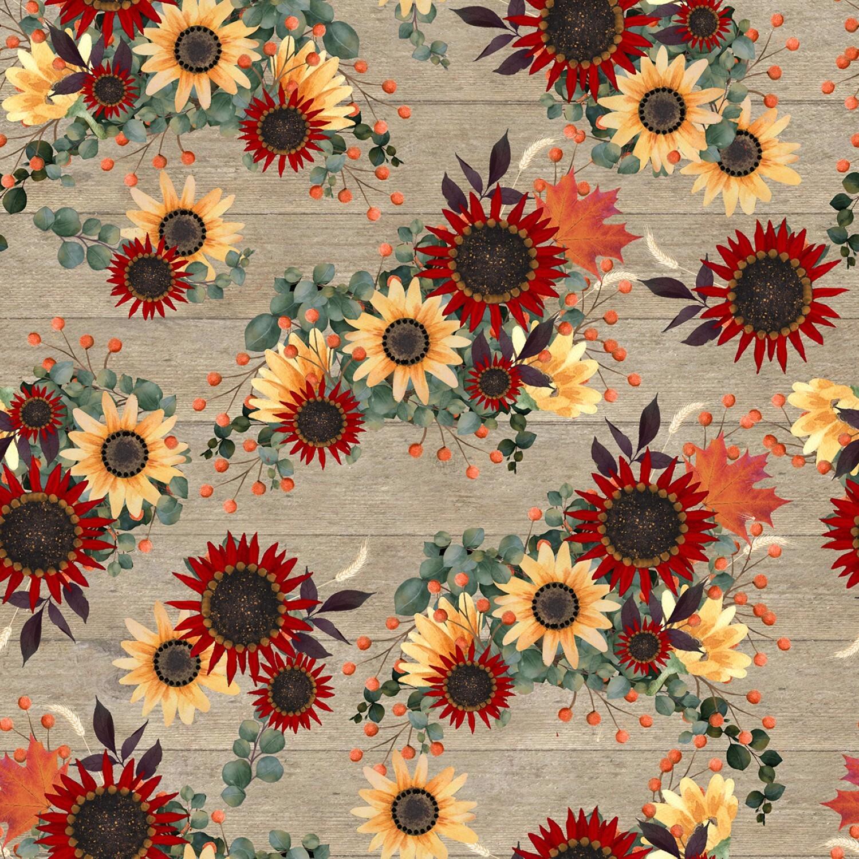 Happy Fall - Flowers - 1/2m cut 57946