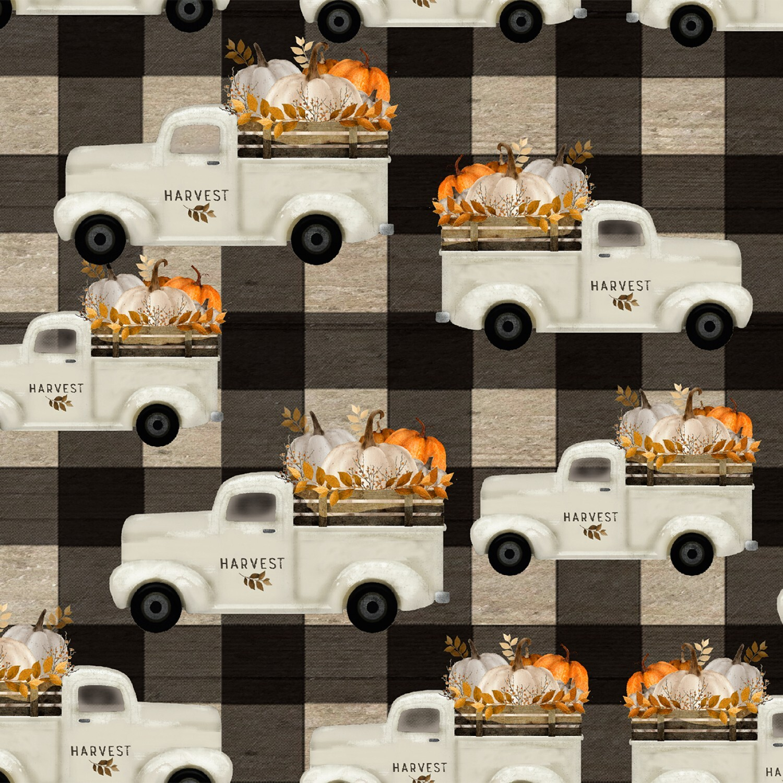 Happy Fall - White Truck - 1/2m cut 57948