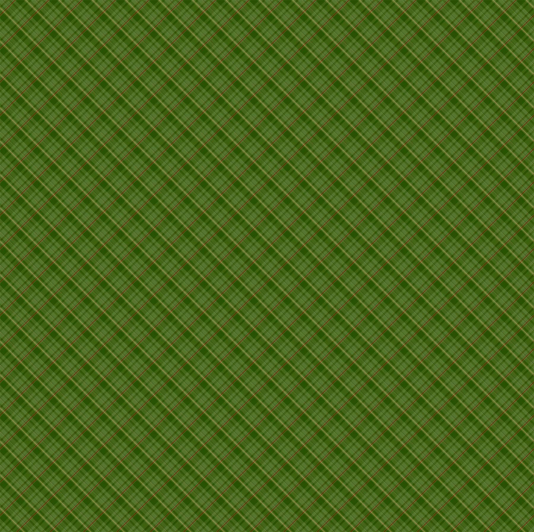 Old Time Christmas - Green Plaid - 1/2m cut 57965