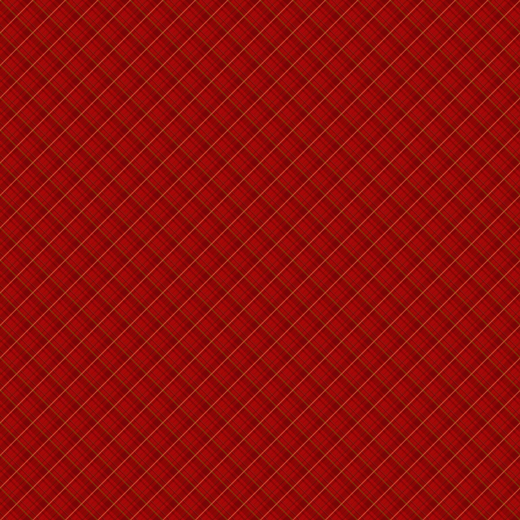 Old Time Christmas - Red Plaid - 1/2m cut 57966