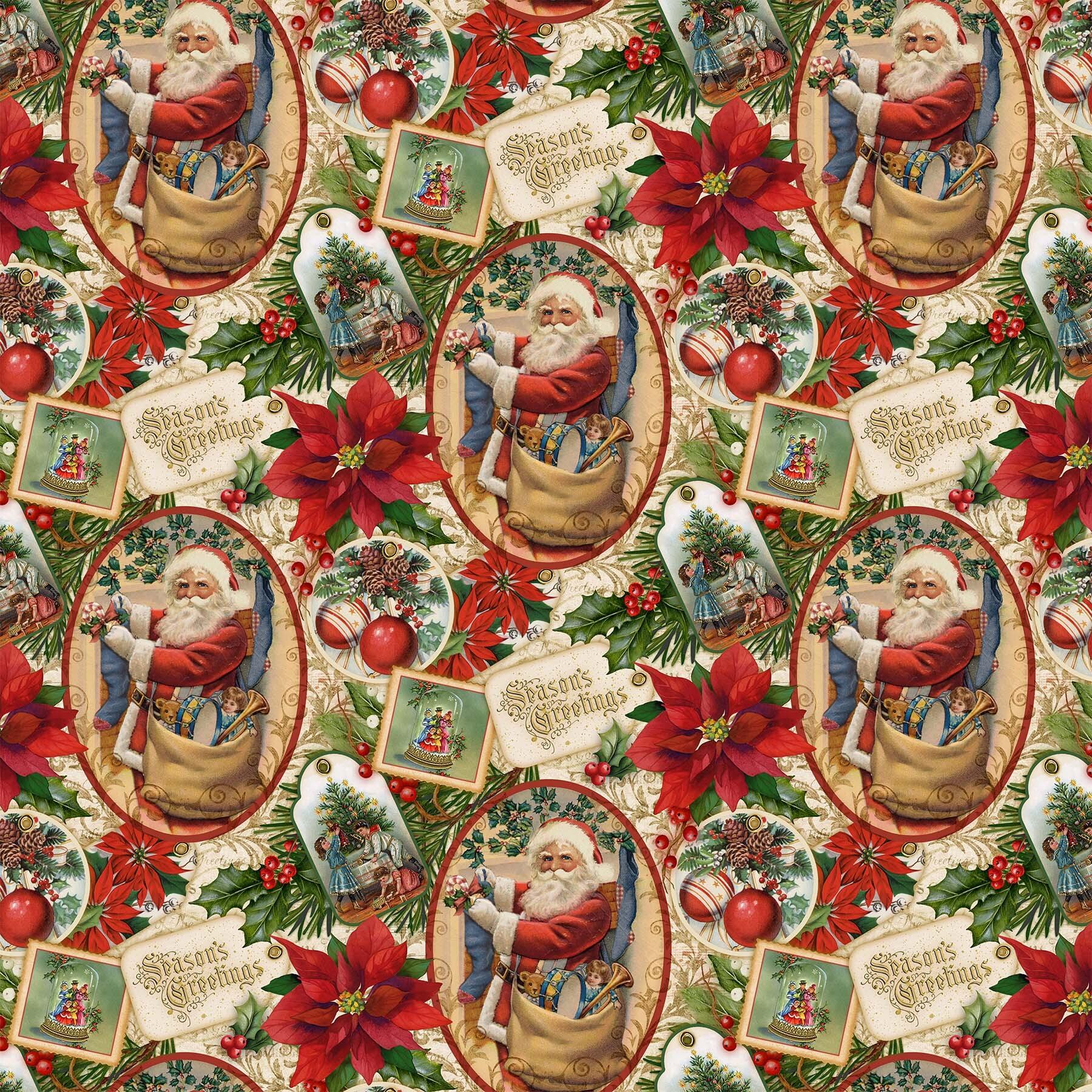 Old Time Christmas - Christmas Memories - 1/2m cut 57959