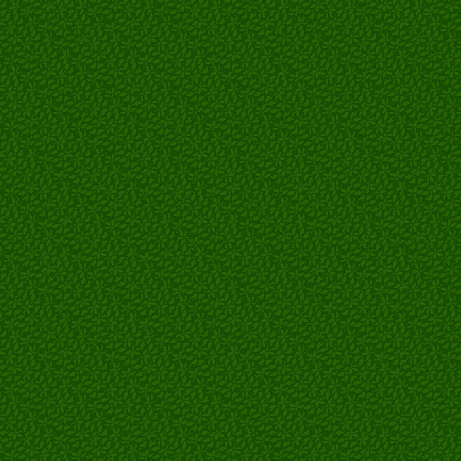 Old Time Christmas - Green Holly - 1/2m cut 57962