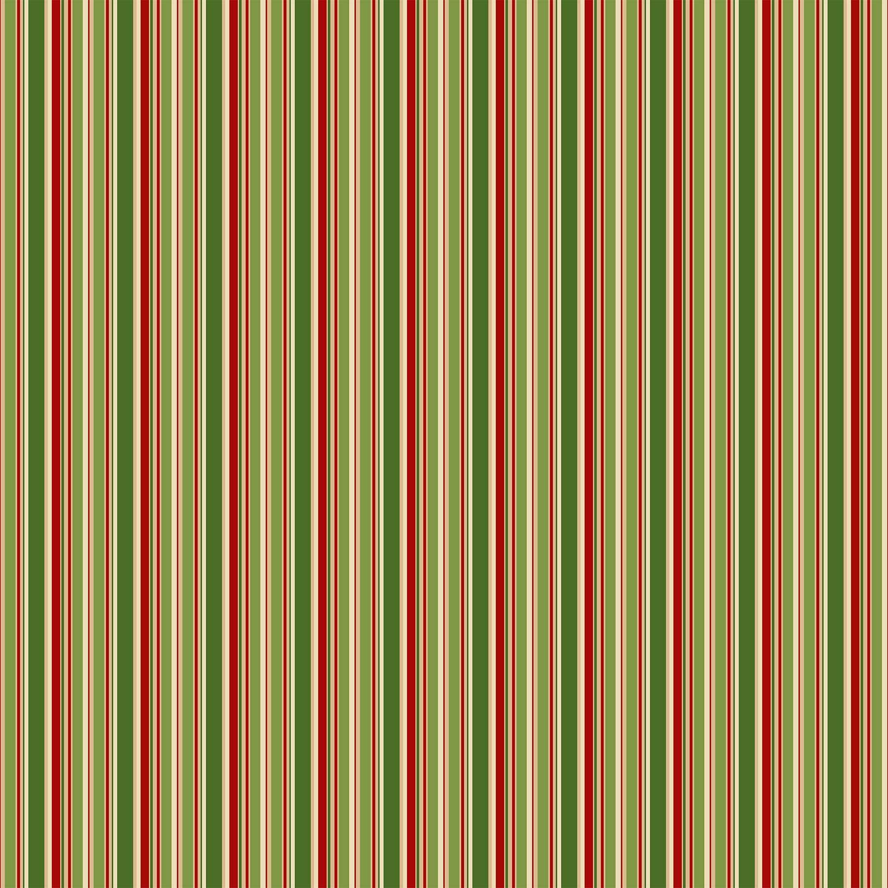 Old Time Christmas - Multi Coloured Stripe - 1/2m cut 57964