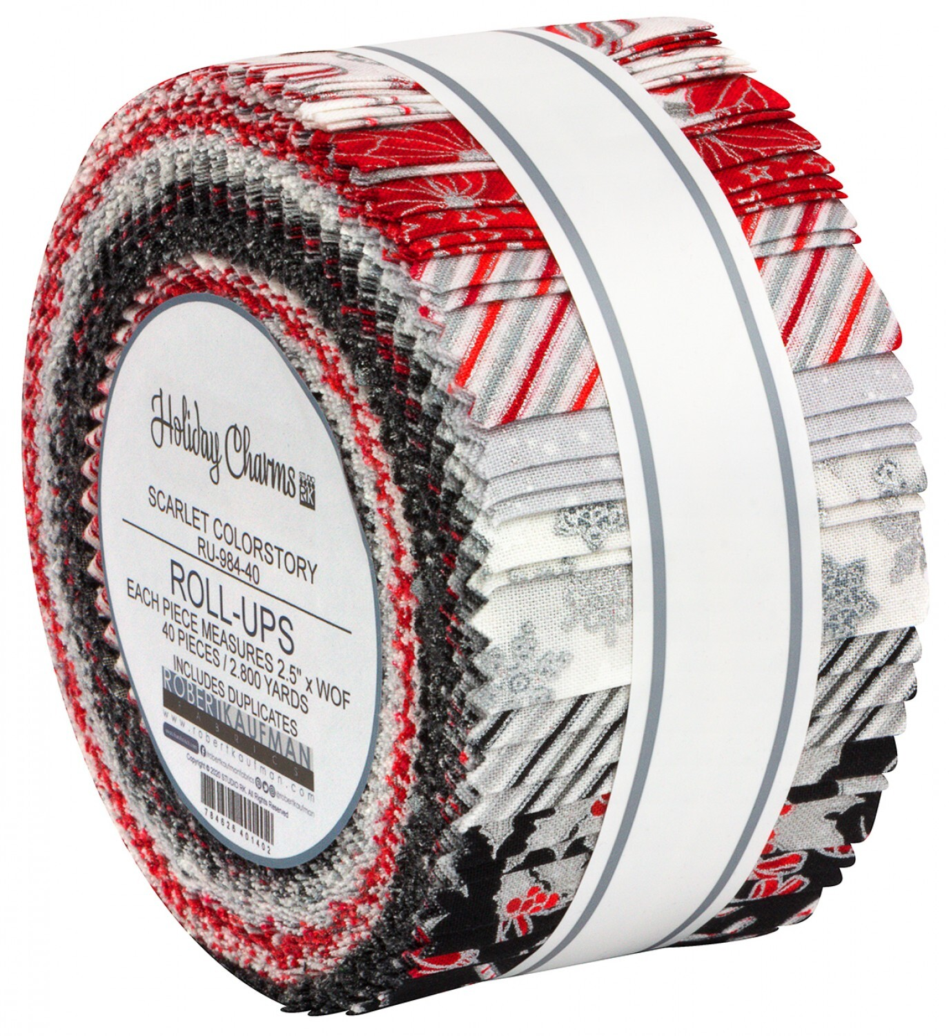 Holiday Charm Jelly Roll - Red & Black 57988