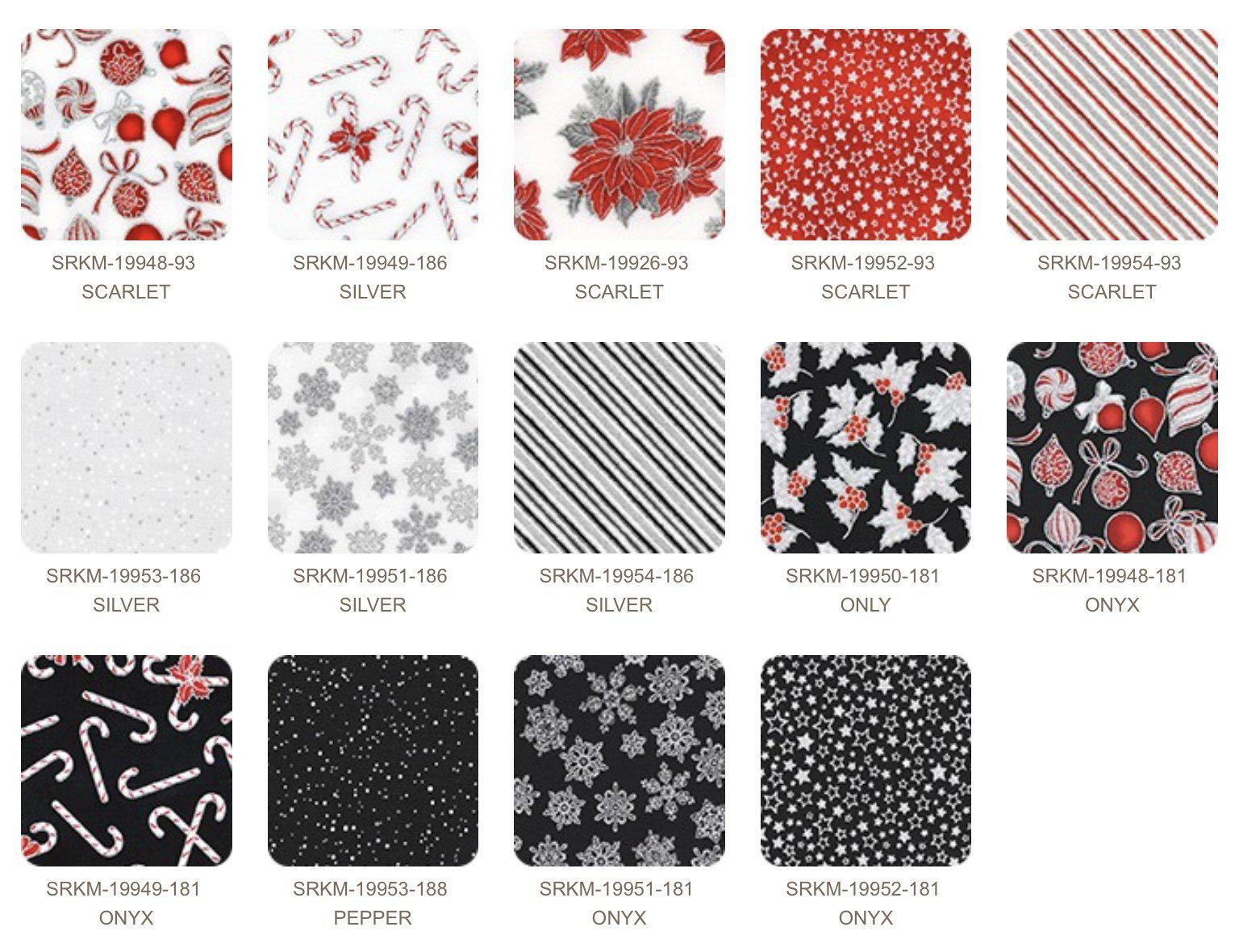 Holiday Charm Jelly Roll - Red & Black