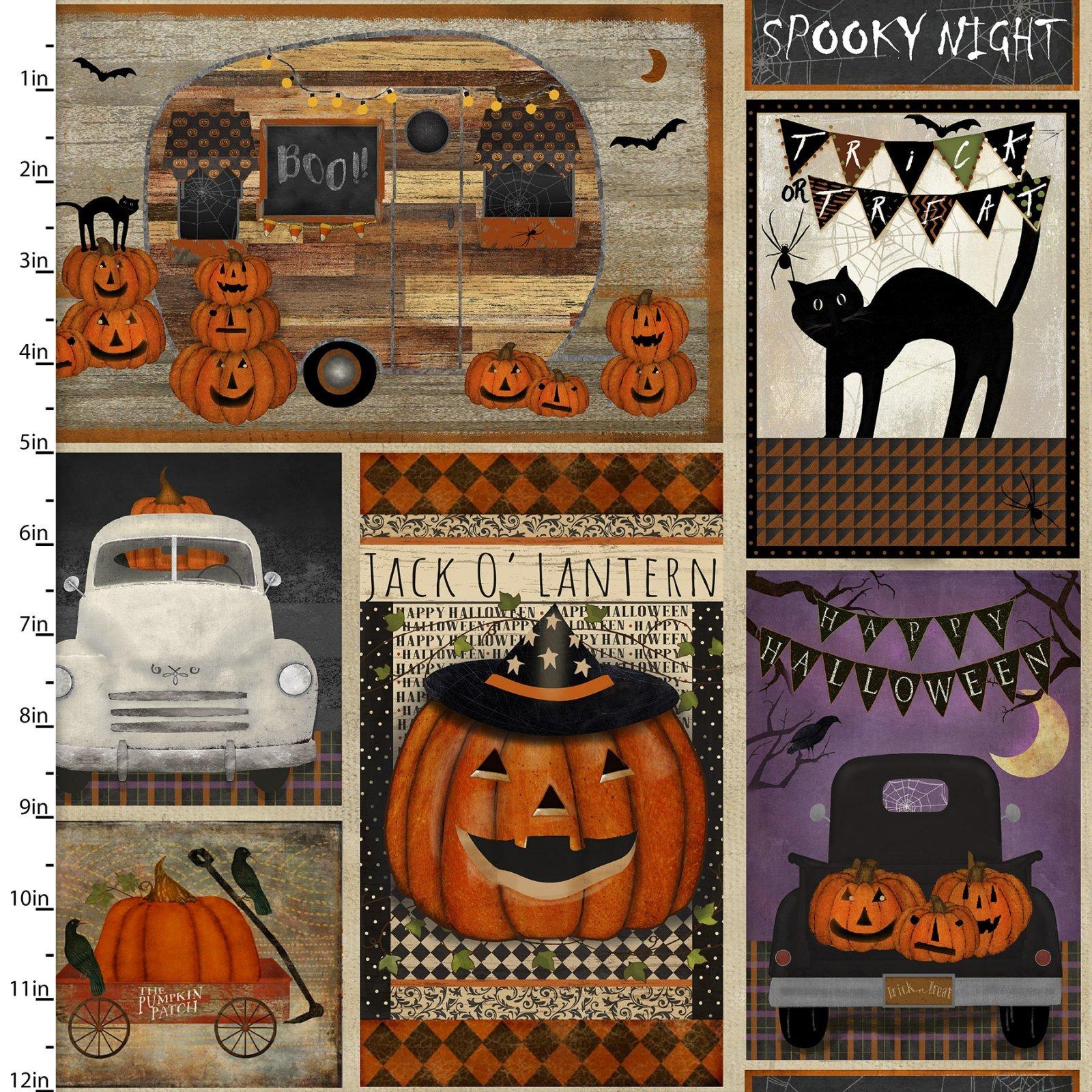 Spooky Night - Patchwork - 1/2m cut 57992