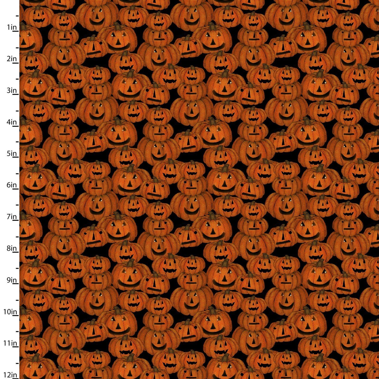 Spooky Night - Pumpkins - 1/2m cut 57996