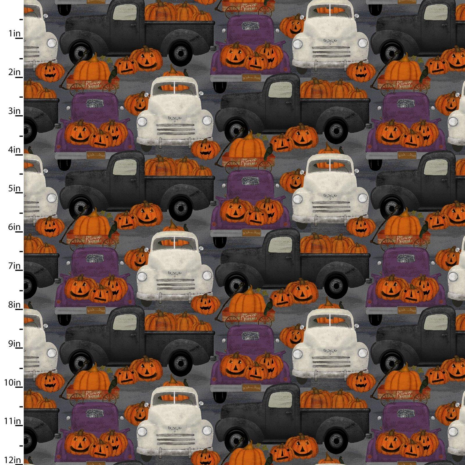 Spooky Night - Multi Trucks - 1/2m cut 57993