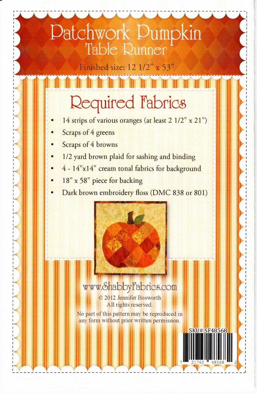 Pumpkin Table Runner Pattern