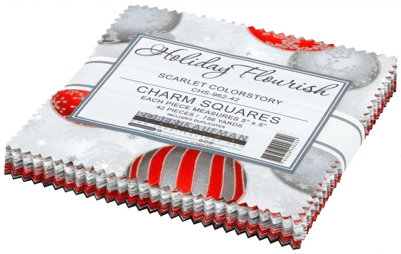 Holiday Flourish Charm Pack - Silver 58015