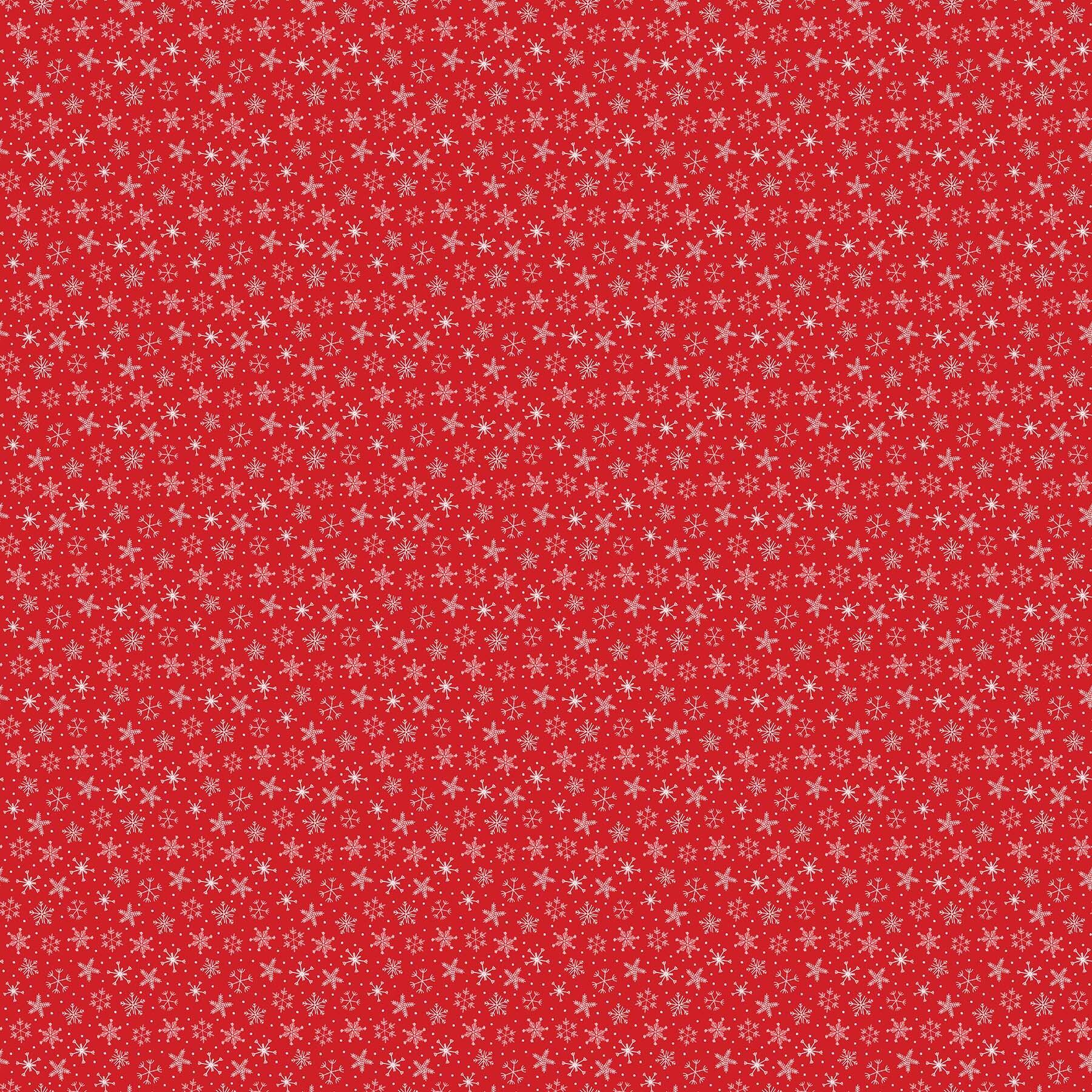 Santa Paws - Red Snowflake - 1/2m cut 58028