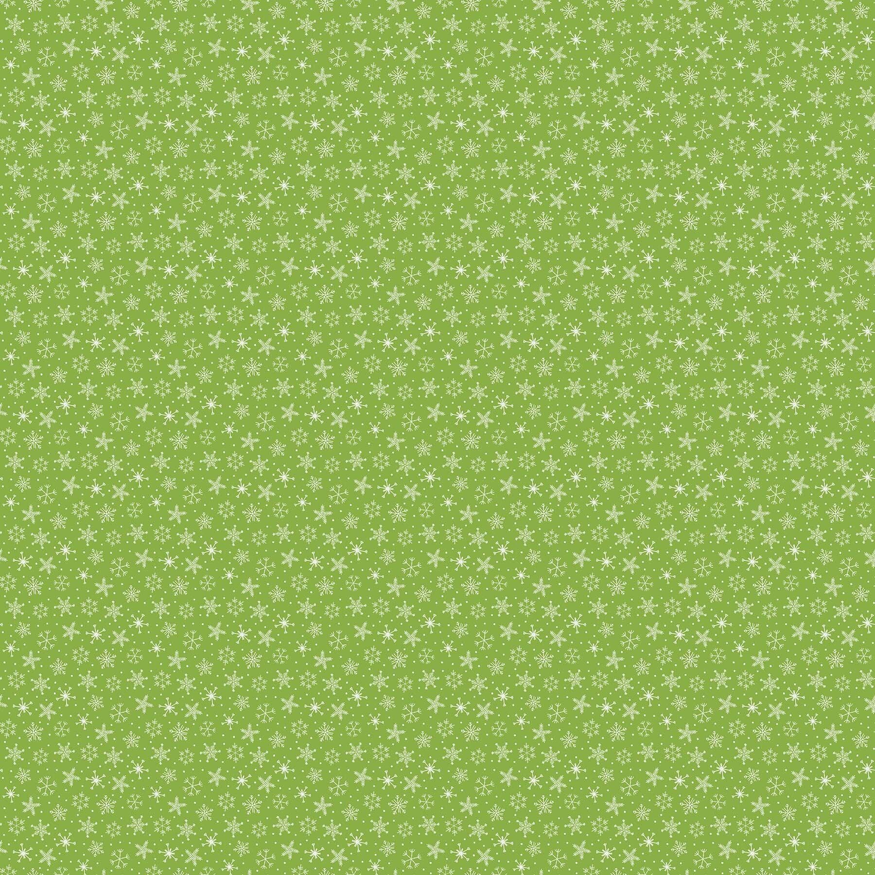 Santa Paws - Green Snowflake - 1/2m cut 58029