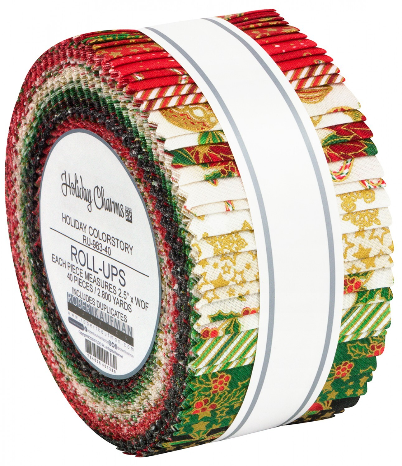 Holiday Charm Jelly Roll - Red & Green 58048