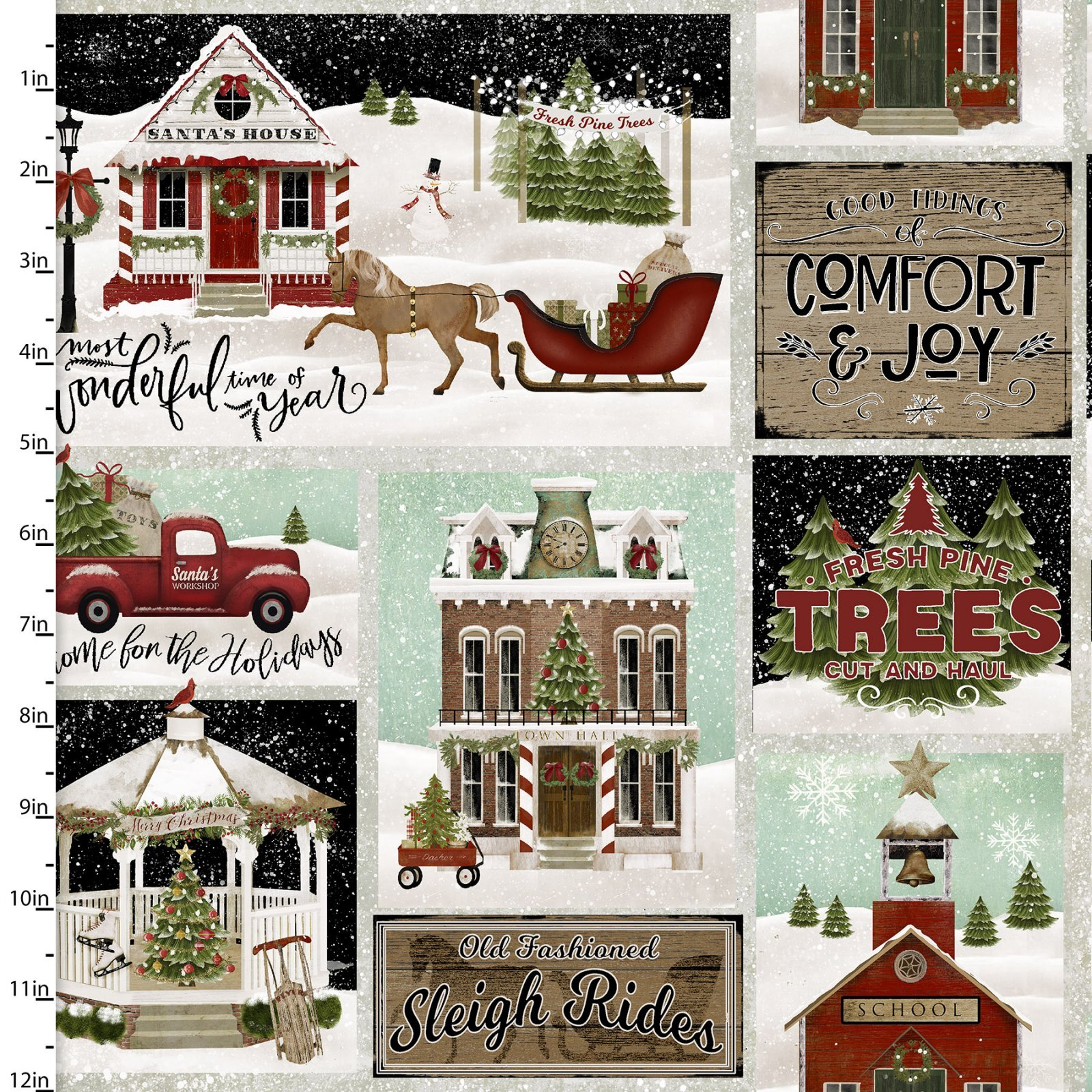 Home for the Holidays - Patchwork - 1/2m cut 58064