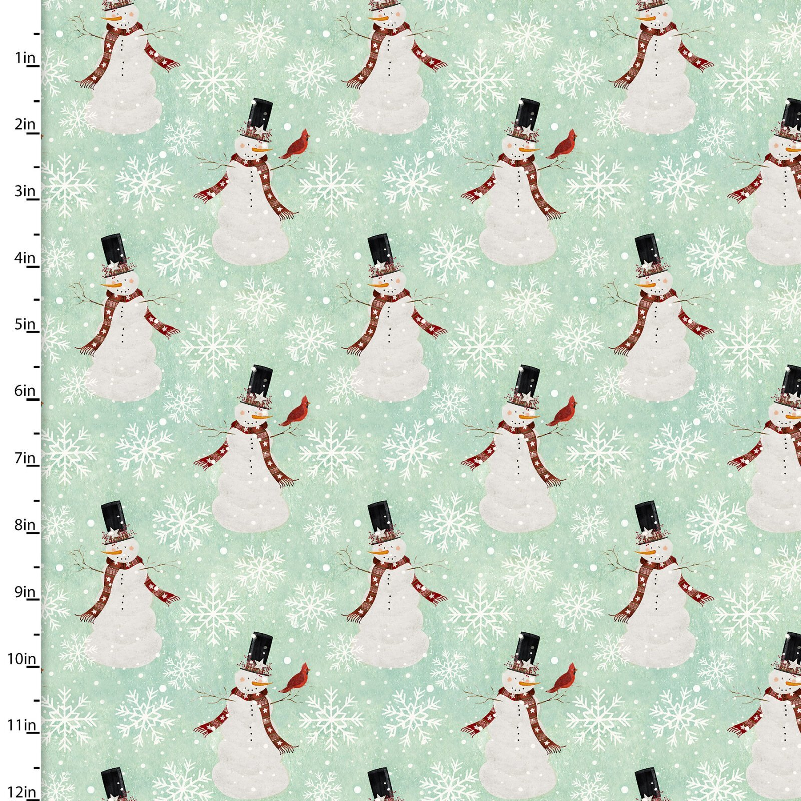 Home for the Holidays - Snowmen - 1/2m cut 58067