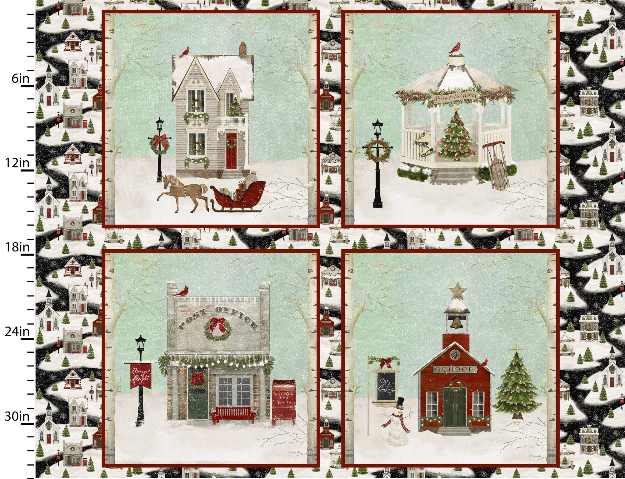 Home for the Holidays - Pillow Panel 58071