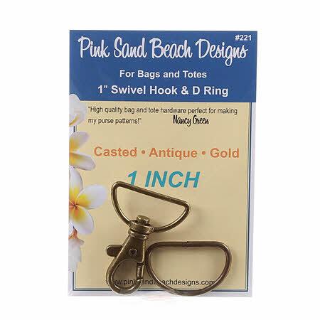 Swivel Hook & D Ring Set - Antique Gold 58083