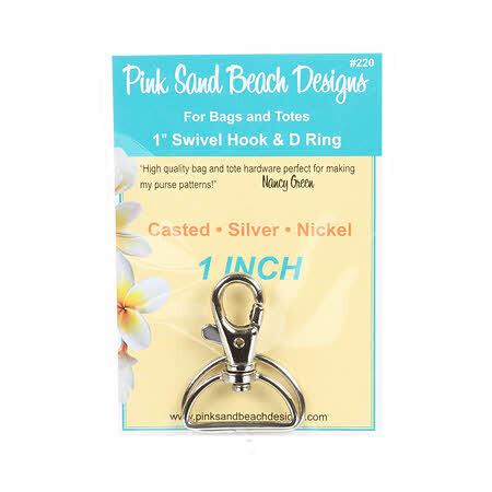 Swivel Hook & D Ring Set - Silver 58085