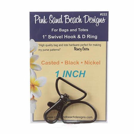 Swivel Hook & D Ring Set - Black 58084