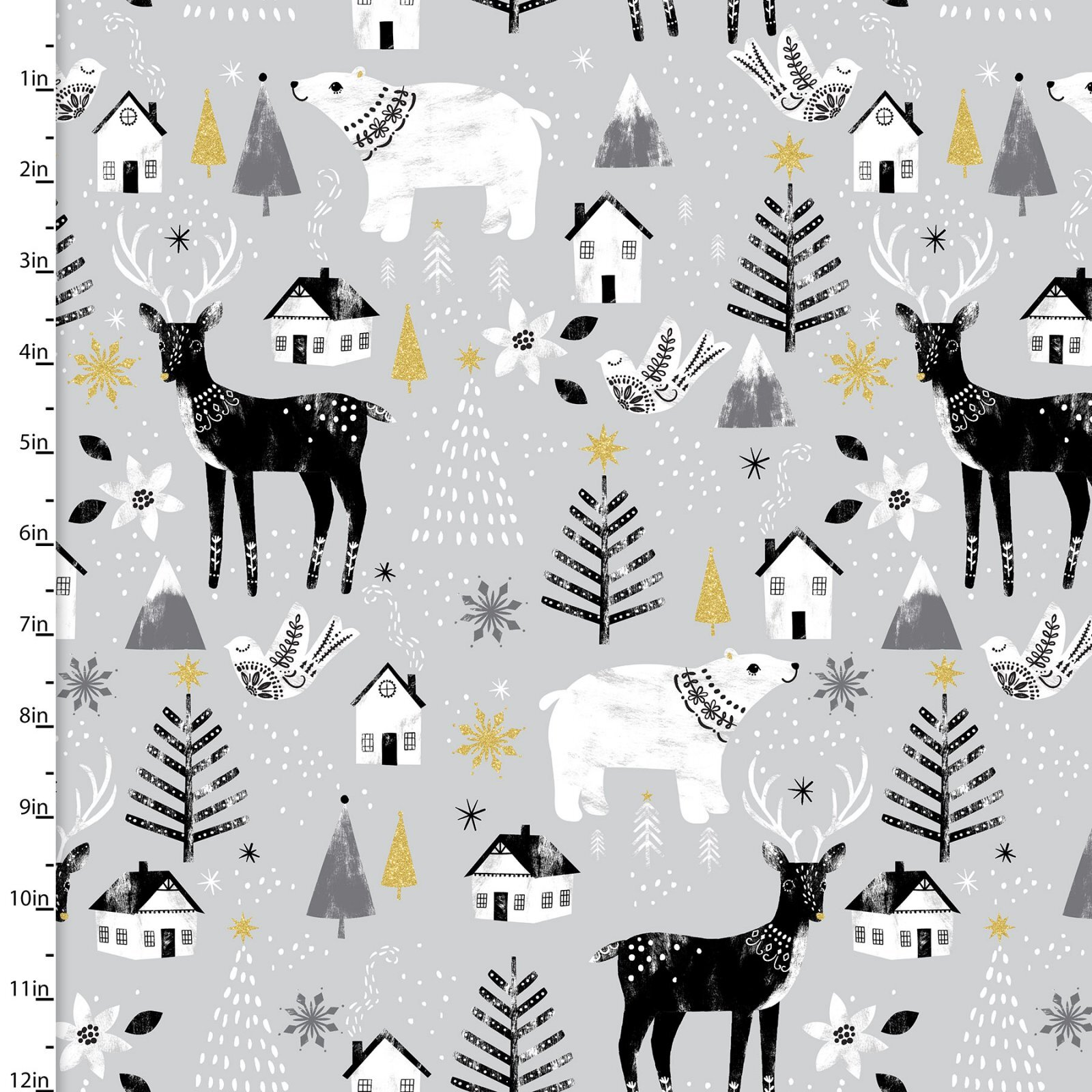 Peace on Earth - All over Print - 1/2m cut 58091