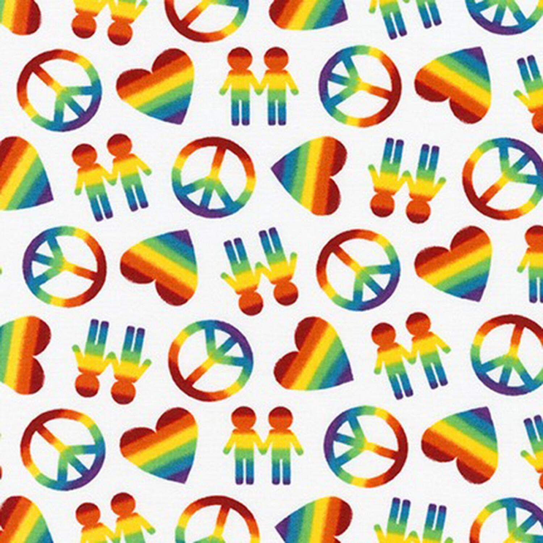 Peace, Love & Pride - 1/2m cut 58096