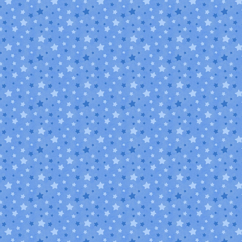 Snow What Fun - Blue Stars - 1/2m cut 58134