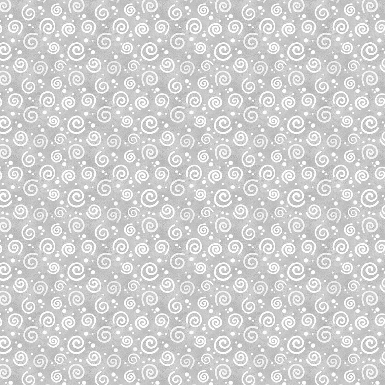 Snow What Fun - Grey Swirls - 1/2m cut 58135