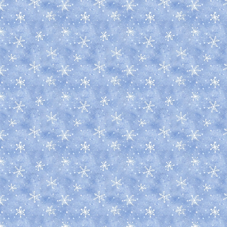 Snow What Fun - Blue Snowflakes - 1/2m cut 58136