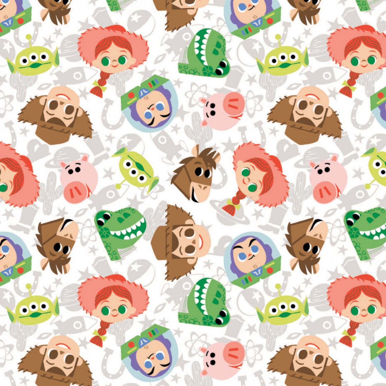 Toy Story - Faces - 1/2m cut 58138