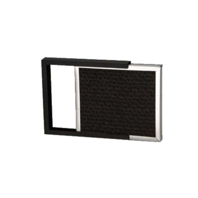 External odor filter and frame for Vanguard, Voyager, and Van-I-Vac
