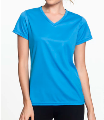 WOMENS WICKING VNECK